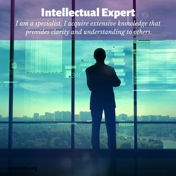 Intellectual Expert SolePath highly skilled specialist with extensive knowledge, works well alone, provides clarity.
