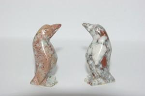 penguin soapstone carving