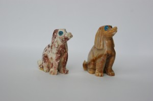 dog soapstone carving