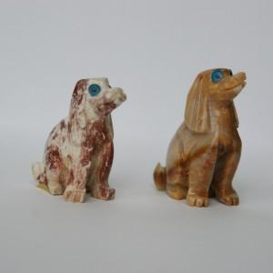 dog soapstone carving