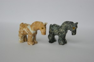 horse soapstone carving