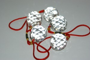 faceted glass crystal